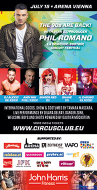 Circus Club Vienna 16 - Summer Rave! - with DJ Phil Romano, DJ Alexio, Charlet Crackhouse, Andi Mik & Alessandro Caruso Party Flyer
